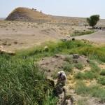 Documentazione durante la ricognizione archeologica