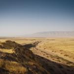 La piana di Navkur e il Jebel Maqloub dalla sommità di Tell Gomel