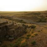 L'acquedotto di Jerwan al tramonto