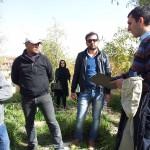 Il Dott. Marco Iamoni spiega come documentare lo scavo archeologico